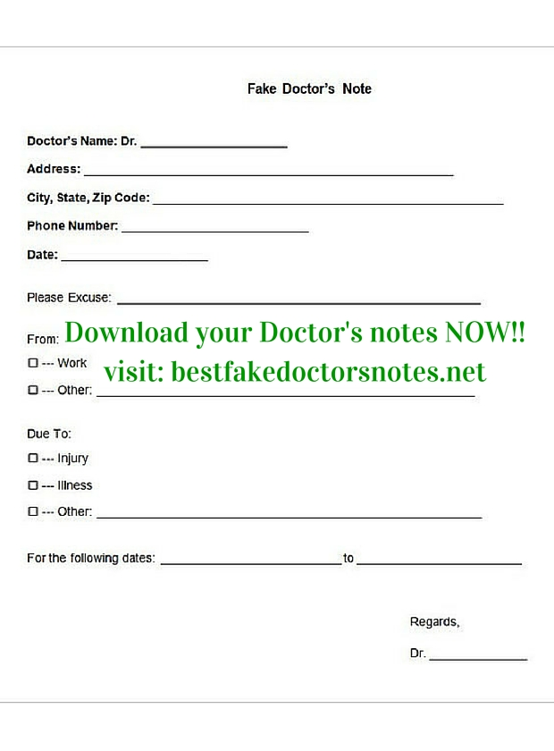 the uses of a dr.'s note